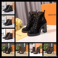 Wholesale designer thigh boots resale online - 19ss autumn and winter hot style Luxury women s winter thigh Boots women s autumn middle boots size