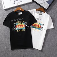 erkekler logosu t gömlekleri toptan satış-Yaz T Shirt Erkekler Için Marka Tasarımcısı T Shirt Ile Logo Markalı Moda Ekip Boyun Tee Lüks Erkek Kısa Kollu Giyim S-XXL Tops
