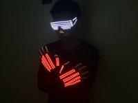 vêtements led pour femmes achat en gros de-Bar discothèque hommes et femmes clignotant LED performance lunettes gants vêtements vêtements lumineux laser accessoires laser