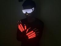 kadınlar için hazır giyim toptan satış-Bar gece kulübü erkekler ve kadınlar yanıp sönen LED performans gözlük eldiven giyim ışık giysi lazer lazer sahne
