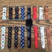 iwatch relógio inteligente venda por atacado-Luxo pu pulseira de couro pulseiras inteligentes para apple watch series 4 3 2 1 faixas bandas para iwatch 38/40 mm 42/44mm pulseira