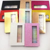 cosméticos falsificados venda por atacado-5 pares Caixa de Cílios Magnéticos 3D Cílios Vison Caixas de Embalagem Falso Cílios Postiços Caixa Vazia Pestana Caixa de Ferramentas de Maquiagem Cosmética RRA1781