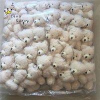 anime teddybär großhandel-Kawaii Kleine Gemeinsame Teddybären Gefüllte Plüsch mit Kette, 12 CM Spielzeug Teddybär Mini Bär Ted Bears Plüschtiere Geschenke