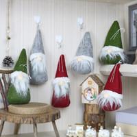 oyuncak yılbaşı ağacı toptan satış-Merry Christmas Uzun Şapka İsveçli Santa Gnome Peluş Bebek Süsleme Asılı Noel Ağacı Elf Oyuncak Ev Partisi Dekoru