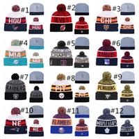 ingrosso beanie bianca nera bianca-Winter Beanie Hats for Men Cappello di lana lavorato a maglia Gorro Bonnet con berretto in sotck spedizione veloce Winter Warm Cap