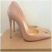 größe 12 stiletto-pumpen groihandel-Damen Pumps Stöckelschuhe Nude Pointed Toe Sexy High Heel Schuhe Stiletto High Heels Damen 12 10 8 cm Big Size 42