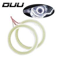 motorrad drl großhandel-DUU 1 Para Auto Angel Eyes Led Halo Ring Scheinwerfer DRL Universal für Auto Auto Moto Motorrad Zubehör DC 12 V 10 Watt