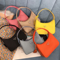 Wholesale new fashion women totes leather resale online - Top quality New Women s Re edition tote Nylon leather Shoulder Bag Luxury Designer Women s Shoulder Bag Crossbody Bags Handbag