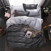 kırmızı kuş çizgi filmi toptan satış-Ev yatak 4 adet düz levha seti kırmızı kalp yatak çarşafları set levha pillowcaseduvet kapak seti Sevimli kuş çocuk yatak örtüsü yaprak kapak ücretsiz kargo