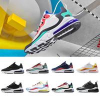 erkek optik toptan satış-Nike Air max 270 react shoes 2019 New BAUHAUS  men running shoes High quality OPTICAL triple black fashion mens trainer breathable sports outdoor sneakers 40-45