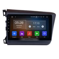 honda civic dvd wifi großhandel-10,1 Zoll Android 9.0 Autoradio GPS Navigationssystem für 2012 Honda Civic mit Bluetooth WIFI USB Unterstützung 3G OBD2 DVR Rückfahrkamera Auto DVD