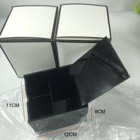 Wholesale vip box resale online - High grade black acrylic dresser desktop multifunctional cosmetics receiving box makeup cotton for desktop VIP gift With box