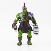 Wholesale birthday banners free shipping resale online - Thor Ragnarok Hulk Robert Bruce Banner Anime Figures Collectible Moble Toys Birthdays Gifts Doll New Arrvial Hot Sale PVC