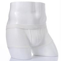 cuecas brancas pretas venda por atacado-Underwear Cueca Lingerie Boxer Cuecas dos homens de baixa Elevação See-through Bulge Pouch Shorts Oco Out Malha Calcinha Masculina Preto Branco