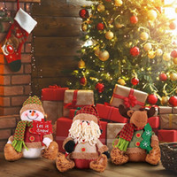 Wholesale diy shop decor for sale - Group buy DIY Christmas Plush Doll Decorations Shopping Mall Window Desktop Decor DollS Innovative Santa Claus Elk Sitting Posture Doll