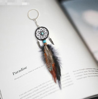 Wholesale mini dreamcatcher for sale - Group buy 2018 Mini Dreamcatcher Keychain Car Hanging Handmade Vintage Enchanted Forest Dream Catcher Net With Feather Decoration Ornament LX7354