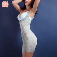 ingrosso body shaper jumpsuits-Shaper di alta qualità del vestito pancia Shapewear di controllo di Underbust delle donne che dimagriscono corpo della biancheria intima della maglia tute tuta correttiva Xxxl