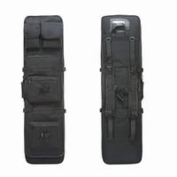 porter sac à dos achat en gros de-85cm 100cm 120cm Dual Carabine Carry Carry Bag Nylon Chasse Militaire Pistolet Sac Tactical Bandoulière Strap Gun Protection Cas Sac À Dos # 743944