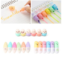 Wholesale mini highlighters for sale - Group buy 6 Mini Leaves Eggs Shaped Highlighter Pens For Writing
