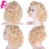 блузка китайские волосы кружева парики оптовых-Парик 613 свободно вьющиеся кружева фронтальный для женщин Балк, медовый блондин китайский парик человеческих волос