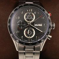 наручные часы калибра 16 оптовых-оптовые мужские наручные часы 44 мм размер CAL 1887 автоматические скольжения гладкие часы Черное лицо Корпус из нержавеющей стали часы Калибр 16