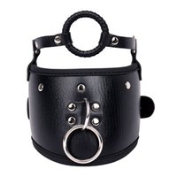 Wholesale black slave dog collar for sale - Group buy Adult Sexy Leather Role Play Black Beautiful Neck Sheath Cangue Dog Slave Training Collar Supplies Collar