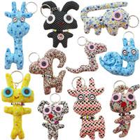 Wholesale cattle pendants for sale - Group buy Korean fashion cotton doll cute Stuffed Animals pendant cm handmade cartoon Plush Keychains Plush Pendant kids toys