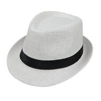 815603a57cdc0 Unisex Summer Panama Hat Straw Fedora Hat boy girl Children Short Brim  Beach Sun Cap Classic