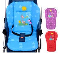 baby fütterung matten großhandel-Kinderwagen Matte Rot Blau Lila Outdoor Stuhl Kissen Weiche Fütterung Stuhl Sitzkissen Blau Baby Sitzmatte Kissen für Stuhl Sofa