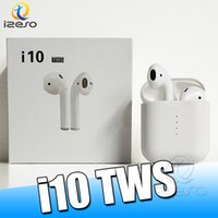 Wholesale iphone phone charger case online - i10s TWS Wireless Bluetooth V5 Earphones Stereo Touch Headphones Mini earbuds with Charger Case Support Wireless Charging for Smart Phones
