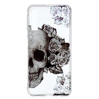 Wholesale skull silicone cases resale online - For Sony XZ3 Galaxy A9 A7 A5 A6 J4 J6 Plus Huawei Mate Pro Luxury Pineapple Flower Soft TPU IMD Cases Skull Bear Feather Donut Cover