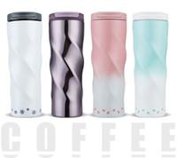 couverture café starbucks achat en gros de-Creative Starbucks 304 couleurs de dégradé de tasse de tasse à vide en acier inoxydable avec couvert tasses à café portatives cadeau de Noël tasse isolée