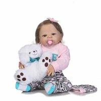 ingrosso bambola reale piena-56CM corpo in silicone morbido reale rinato bambola molle vero tocco gentile vinile pieno bambola in silicone per i bambini regalo di compleanno giocattolo Baty
