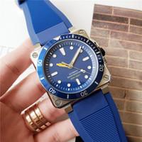 relojes cuadrados de goma para hombre al por mayor-Reloj de lujo para hombre de alta calidad RB Square Design Blue Dial Relojes de diseño de acero inoxidable Movimiento automático Correa de goma Reloj de pulsera de 47 mm