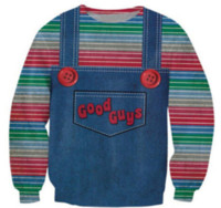 Wholesale guy toys for sale - Group buy New Evil Good Guys Toy Halloween Chucky Sweatshirt Men Women D Print D Long Sleeve Funny Tracksuit Pullover Outerwear Casual Tops B183