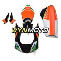 carenados de aprilia al por mayor-Carenados de fibra de vidrio blanco negro naranja para Aprilia RSV4 1000 2010 2011 2012 2013 2014 2015 Body Kits Moto RSV4 10 11 12 13 14 15 Cascos