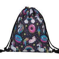 einschließlich definition großhandel-Kreative Explosion Bundle Tasche Einhorn 3D High Definition gedruckt Kordelzug Reisetasche inklusive Schulter-Rucksack