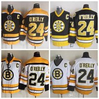 camiseta de terry o'reilly al por mayor-De calidad superior para hombre # 24 Terry O'Reilly Jerseys 1984 CCM Vintage 24 Boston Bruins Terry'Reilly Hockey Jersey barato cosido C parche