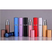 yağlı boya şişeleri toptan satış-10 renk Mini Taşınabilir Doldurulabilir Parfüm Atomizer Renkli Sprey Şişe Boş Parfüm Şişeleri 6ml Uçucu Yağlar Difüzörler ZZA1354