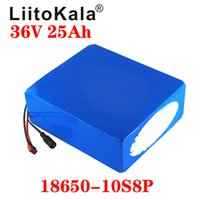 Wholesale 36v scooter charger for sale - Group buy LiitoKala V Lithium battery V AH electric bike battery V W Scooter Battery with A BMS and V A charger