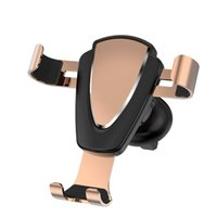 Wholesale cell phone clamp mount online – 2019 New Cell Phone Holder for Car Auto Clamping Air Vent Car Mount Holder Cradle for iPhone Samsung Huawei Smartphones