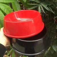 ingrosso cani ad alta tazza-Fashion Box Logo Cani Ciotola per animali Ciotola di alta qualità Designer Pet Food Bowl Nero Rosso all'ingrosso
