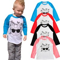 Wholesale baby girl hip hop clothes for sale - Group buy Easter Baby Shirt Hip Hop Rabbit Printed Kids Tees Long Sleeve Raglan Shirts Baby Boy Tops Girls Clothing Designs YW2023