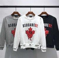 neue designer-kapuzenpullis großhandel-DSQUARED2 DSQ2 2019 FW Neue Ankunft Hochwertige Markendesigner Herrenbekleidung D2 Street Hoodies Langarm Sweatshirts M-3XL DS266