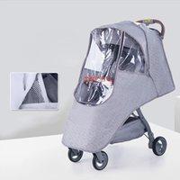 BABY STROLLER Housse De Pluie Bébé Jumeaux poussette imperméable Wind Weather Shield