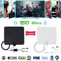 kapalı antenler toptan satış-Kapalı TV Antena Dijital HDTV Anten 4K HD TV Antenler VHF / UHF DVB-T / T2 ATSC