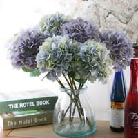 ingrosso accessori per pianoforte-Fiore di Ortensia artificiale di lusso con fiore Rod accessorio di seta fai da te per la decorazione di nozze casa partito 5 colori