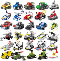 Wholesale kindergarten building toys for sale - Group buy Best selling mini puzzle small particles assembled military small building blocks aircraft blocks children s toys kindergarten gifts DIY edu