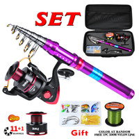 Wholesale proberos lures for sale - Group buy PROBEROS Portable m m Carbon Fiber Fishing Rod Combo Full Kit Spinning Fishing Reel Line Lures Accessories Set