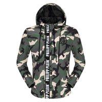 casaco dos homens da tendência da forma venda por atacado-2019 Nova revestimento bordado jaqueta de couro com zíper tendência marca casaco jaqueta corta-vento dos homens de moda masculina de luxo
